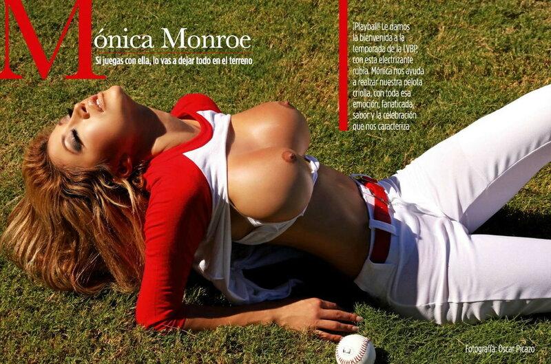 Baseball Girl Monica Monroe in Playboy Venezuela