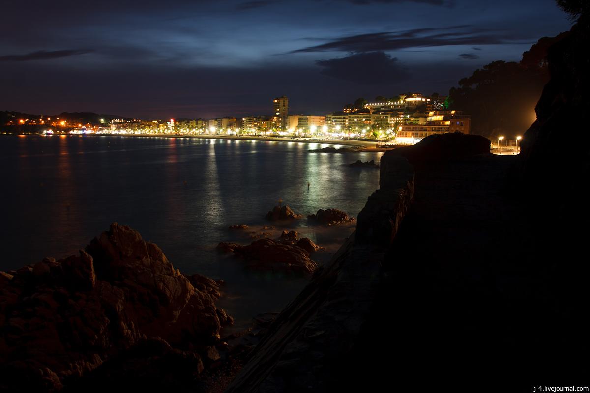 фотопутешествия, фототуризм, фото, Льорет де Мар, ночь