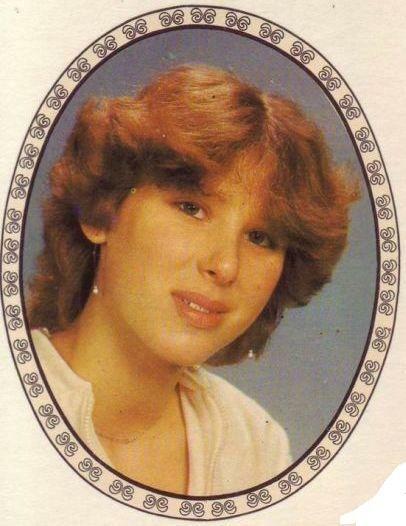 Переводная картинка из ГДР девушка 1983