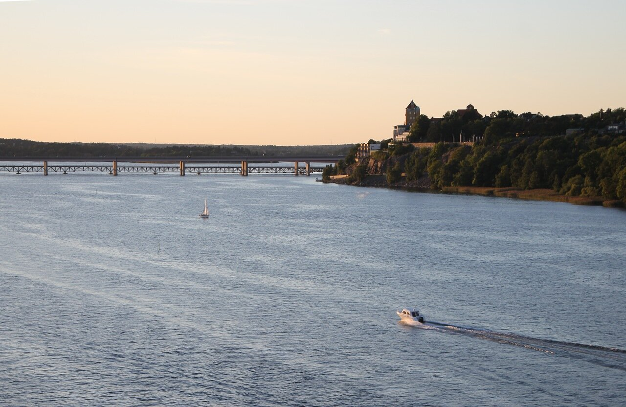 Мост Лидиньгёброн. Lidingöbron. Stockholm, Стокгольм