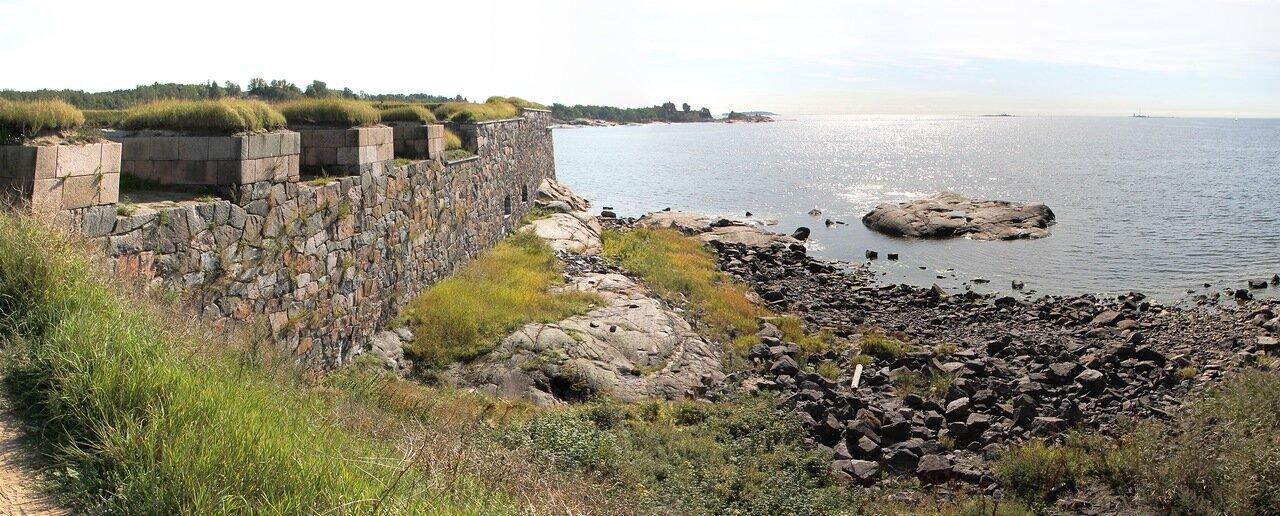 Крепость Суоменлинна. Южный бастион Кустаанмиекка. panorama
