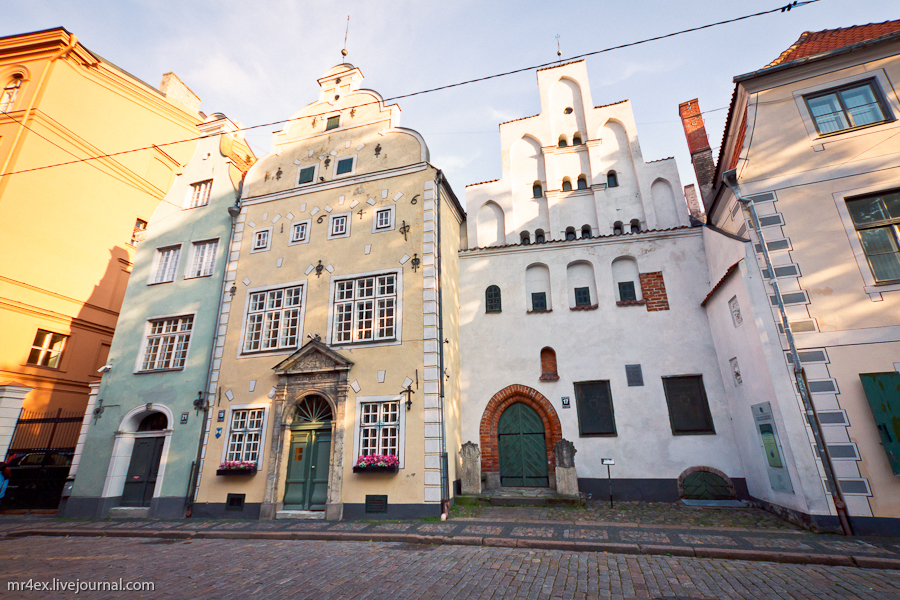 Латвия, Рига, Latvia, Riga, Старый город Риги, Три брата, Три Брата в Риге