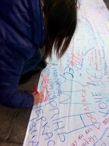 Студенты пишут послание Януковичу