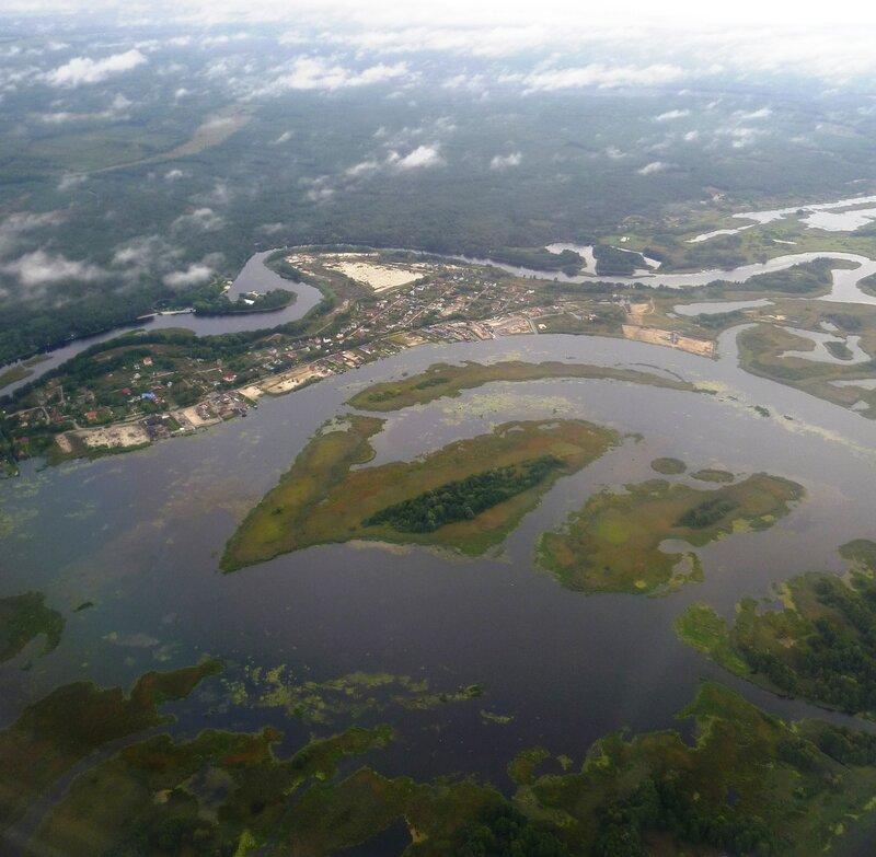 Вид из самолета - Украина, Днепр (View from the plane - Ukraine, Dnipro).