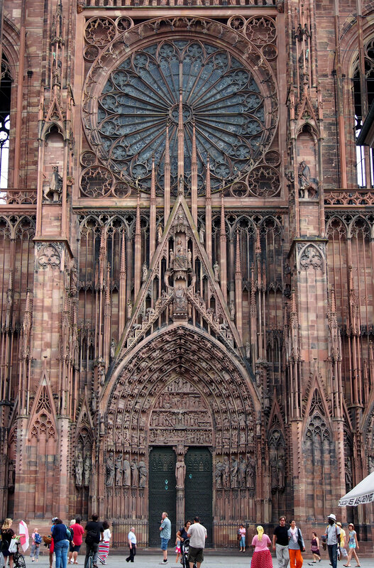 Страсбургский собор. Центральный вход