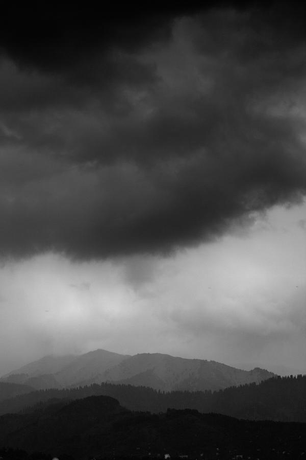 дождь, горы, красота