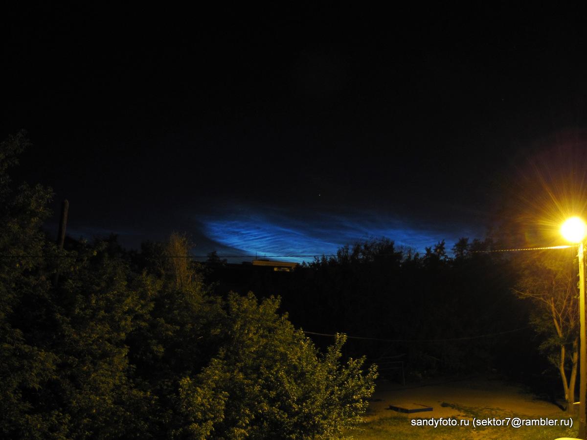 Необычное свечение в небе на Южном Урале