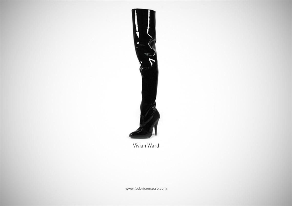 Знаменитая обувь культовых персонажей / Famous Shoes by Federico Mauro - Vivian Ward (Pretty Woman)