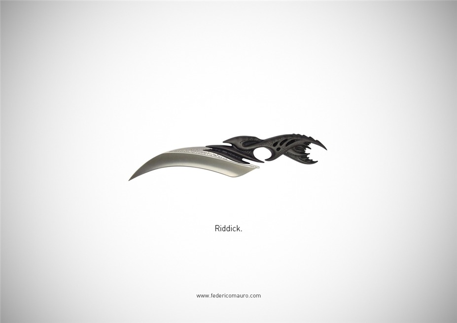 Знаменитые клинки, ножи и тесаки культовых персонажей / Famous Blades by Federico Mauro - Riddick