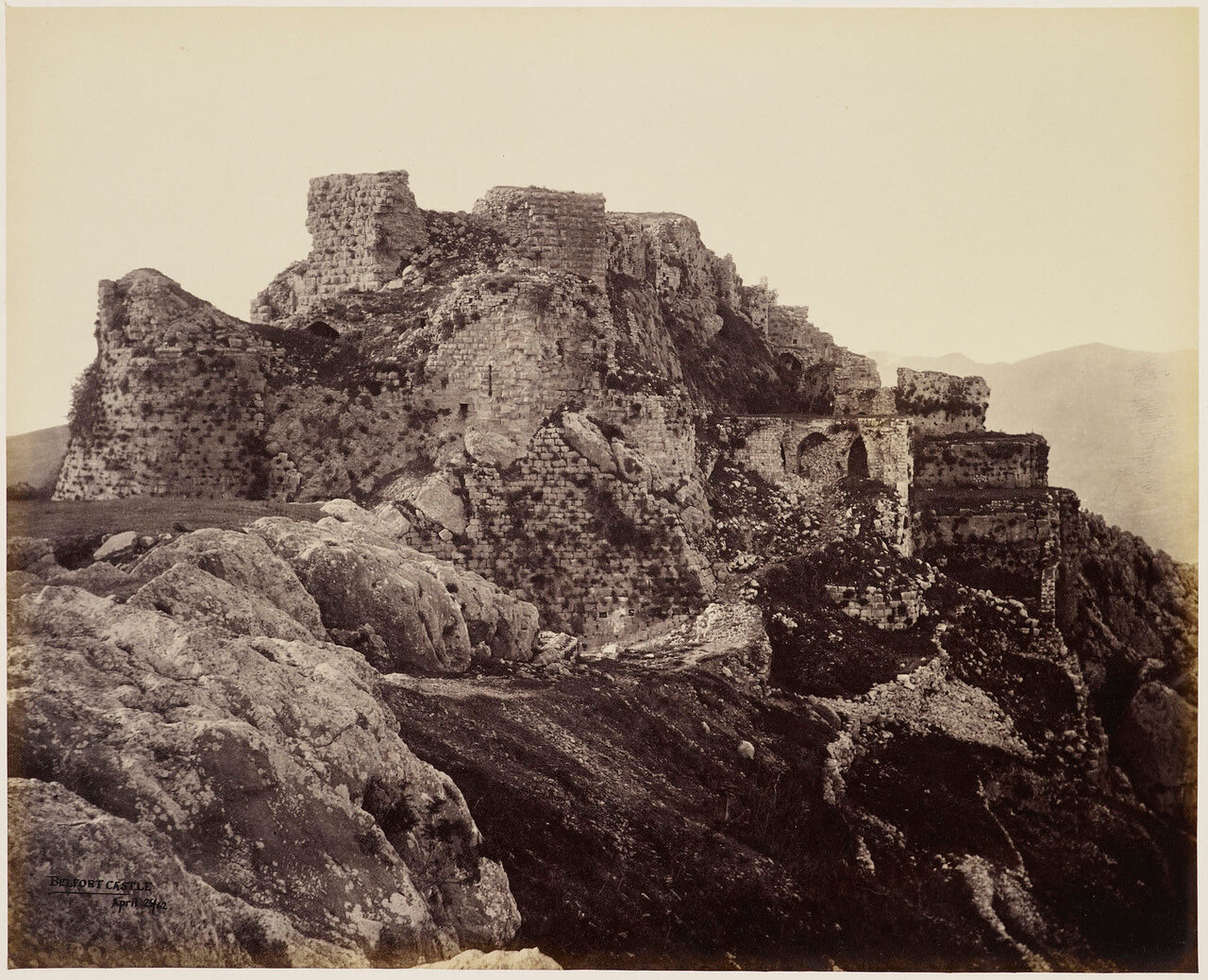24 апреля 1862. Белфорт Замок, Ливан