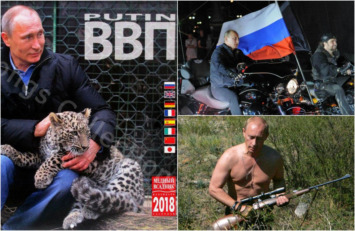 Calendar with Putin for 2018