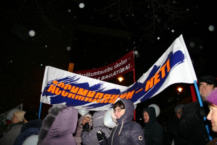 Митинг и марш протеста против ликвидации русского образования, 14 декабря 2017, Рига