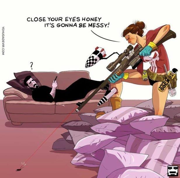 Иногда жене не спится