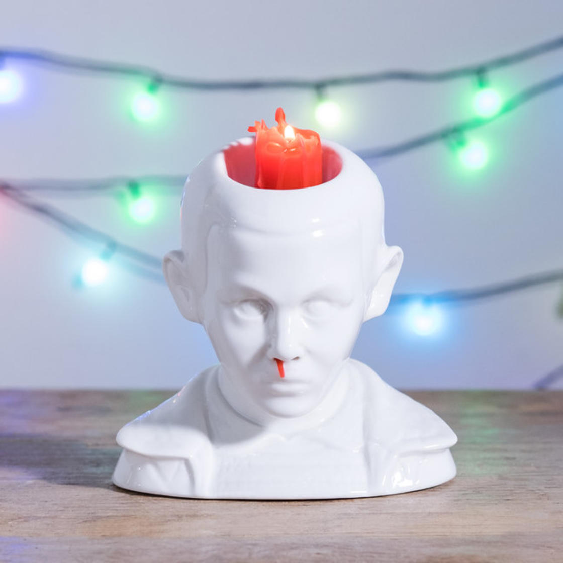 Stranger Things – An amazing Eleven candle that bleeds from the nose