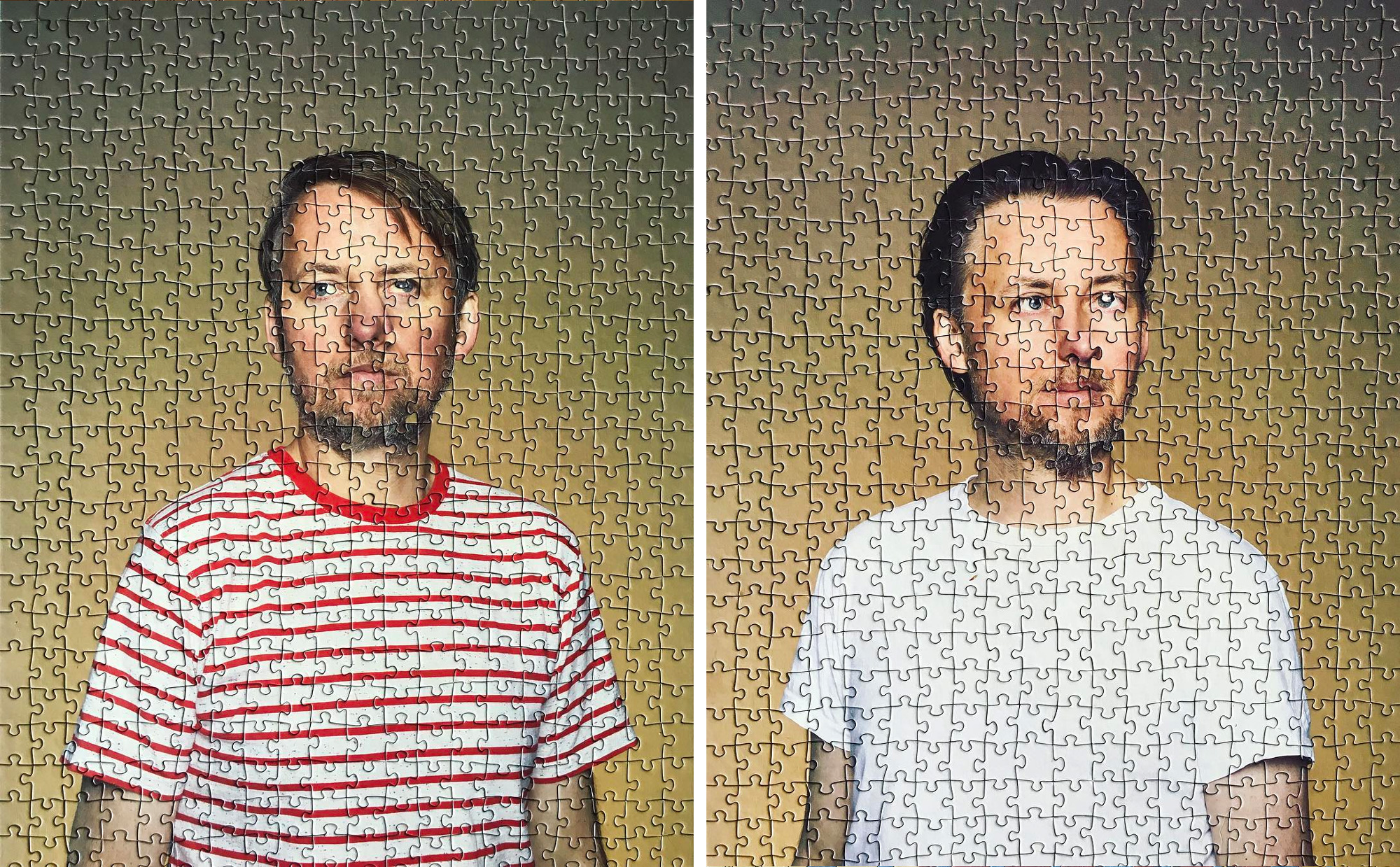 Puzzling Portraits of Identical Twins by Photographer Alma Haser