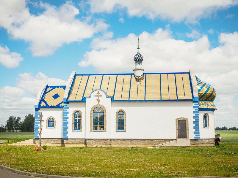 Новая церковь в д. Тюхиничи.