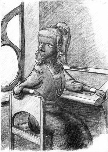 Drow Schoolgirl Sitting.jpg