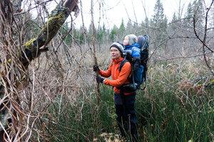 пеший поход Поселок - Сиверская вдоль Оредежа с ребенком 2.5 года за спиной