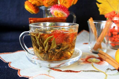 Чай-цветок,распускающийся чай!