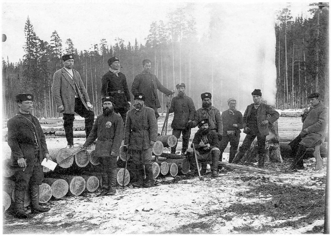 На лесозаготовках. Холмогорский уезд. 1910-е годы