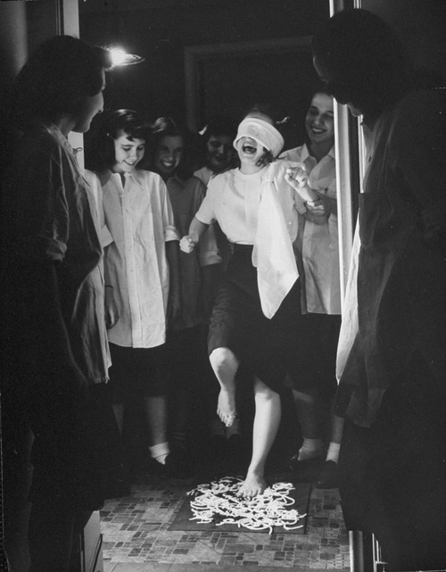 Young teens participating in formal initiation ceremony.  (Photo by Nina Leen//Time Life Pictures/Getty Images)