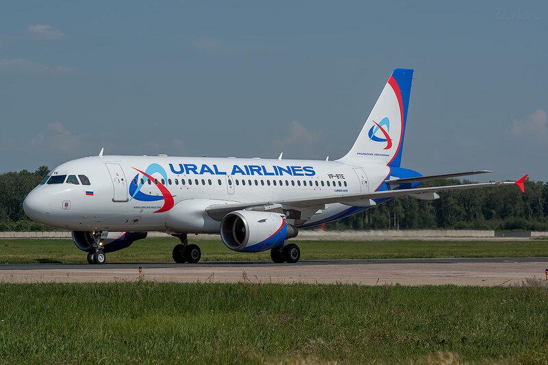 Airbus A319-112 (VP-BTE) Уральские Авиалинии D801624