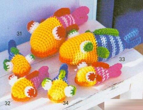 Вязаные игрушки...рыбки