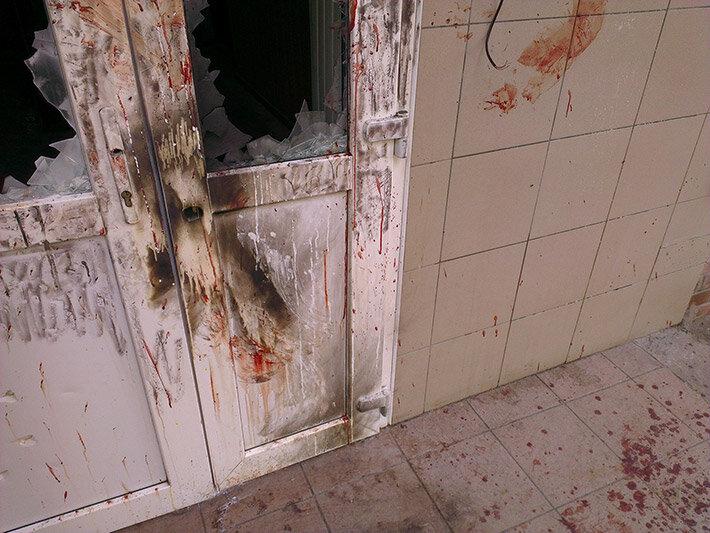 Врадиевский бунт: РОВД - разгромлен, офицеры - в подвале (фото+видео)