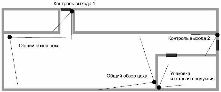 Рис. 1. Пример видеонаблюдения в цехе