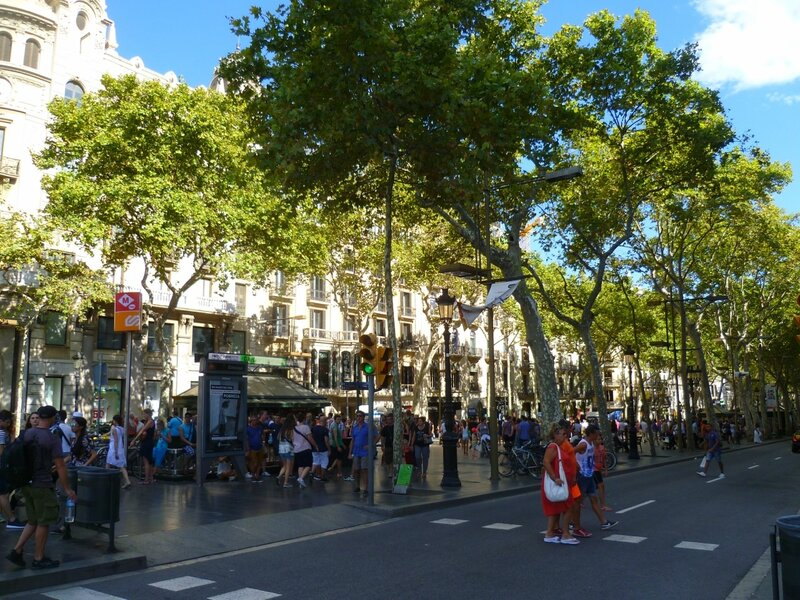 Барселона, бульвар Рамбла (Barcelona, Las Ramblas)