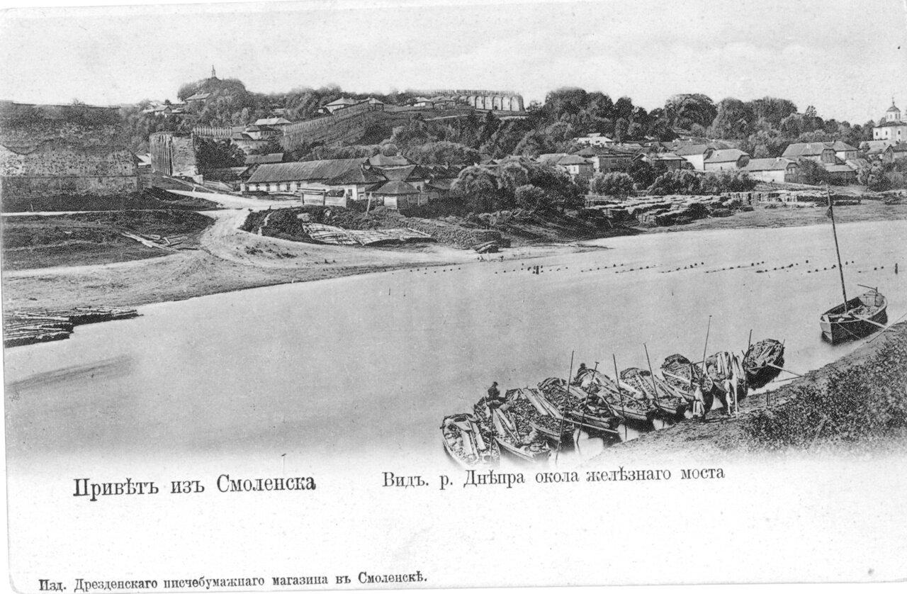 Вид Днепра возле железного моста
