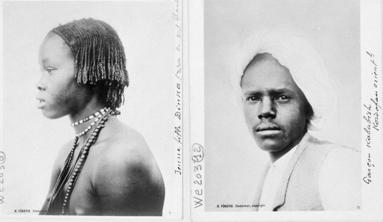 Девушка из племени Динка (берег Белого Нила).  Мальчик из Кабабиша