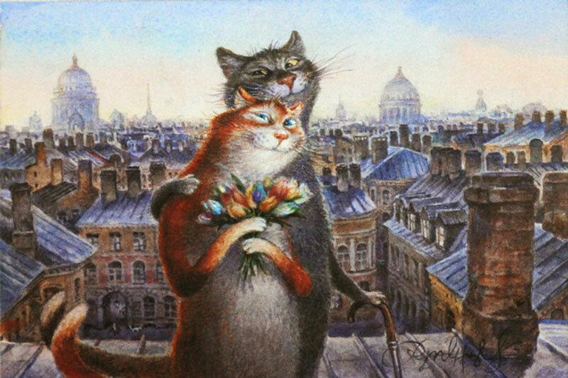 Питерский художник а.я рисующий кошек