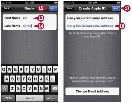 Откроется экран «Создать Apple ID»