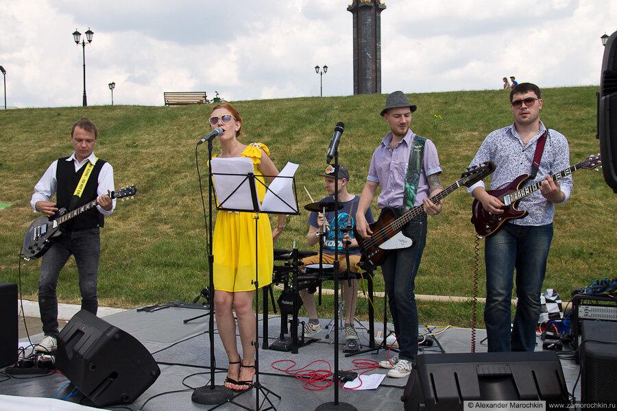 Выступление группы Патефон на Дне города в Саранске (2013)