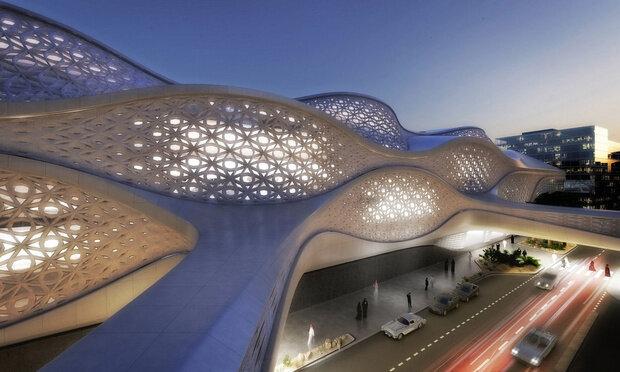 Станция метро из золота в Саудовской Аравии
