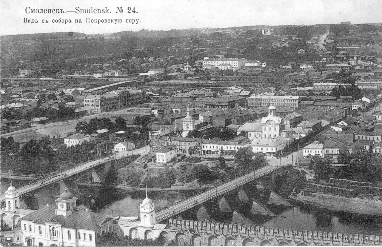 Вид с собора на Покровскую гору