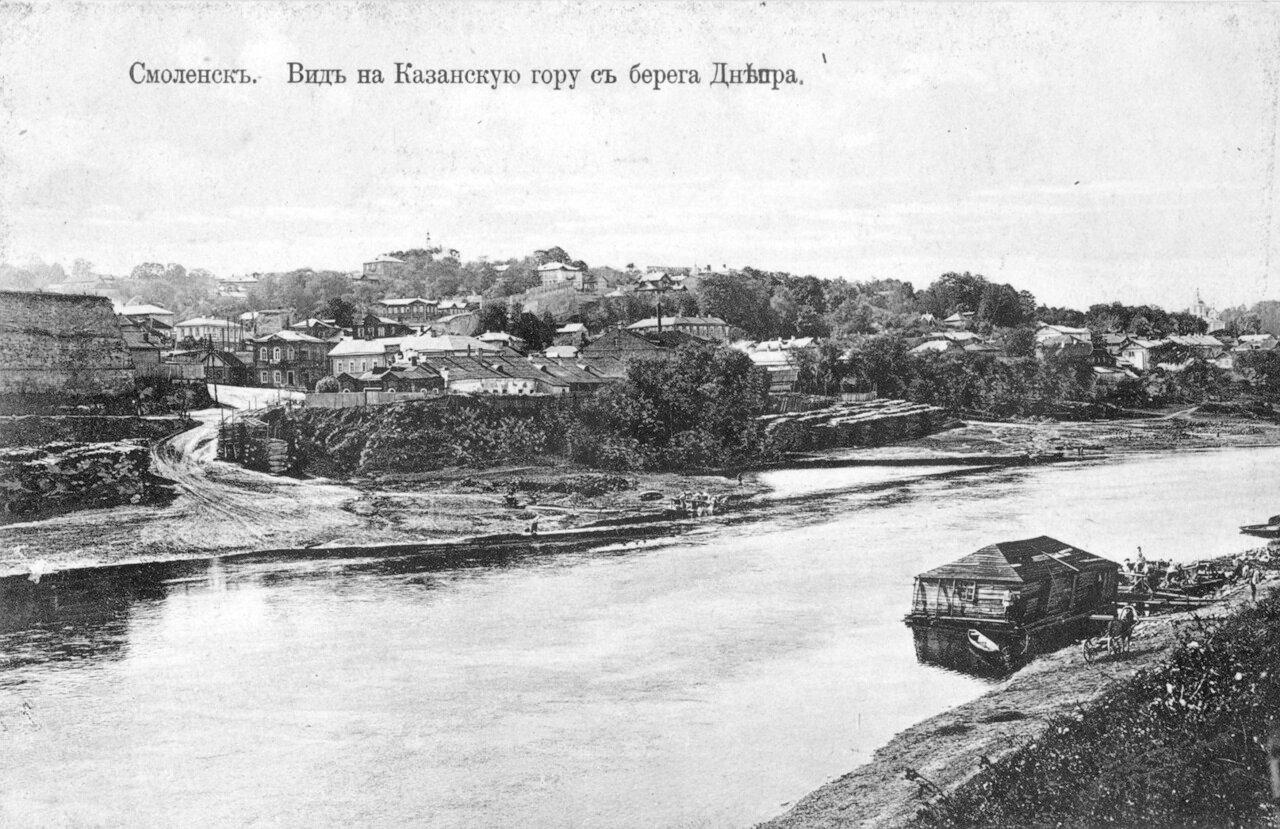 Вид на Казанскую гору с берега Днепра