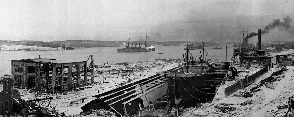 Five days after the Halifax Explosion, the war effort continues. The blast from the munitions ship, the SS Mont-Blanc, left aprox. 2,000 dead and 9,000 injured. (December 11, 1917)