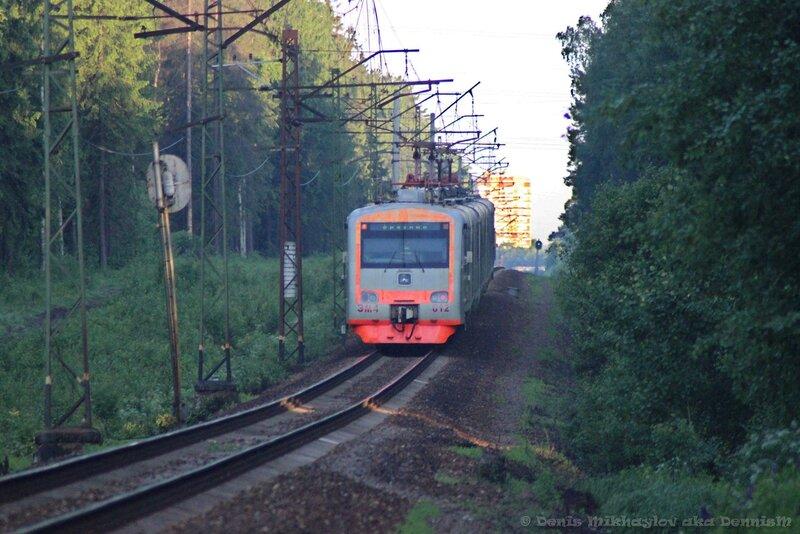Электропоезд ЭМ4-012, перегон Фрязино - Детская.