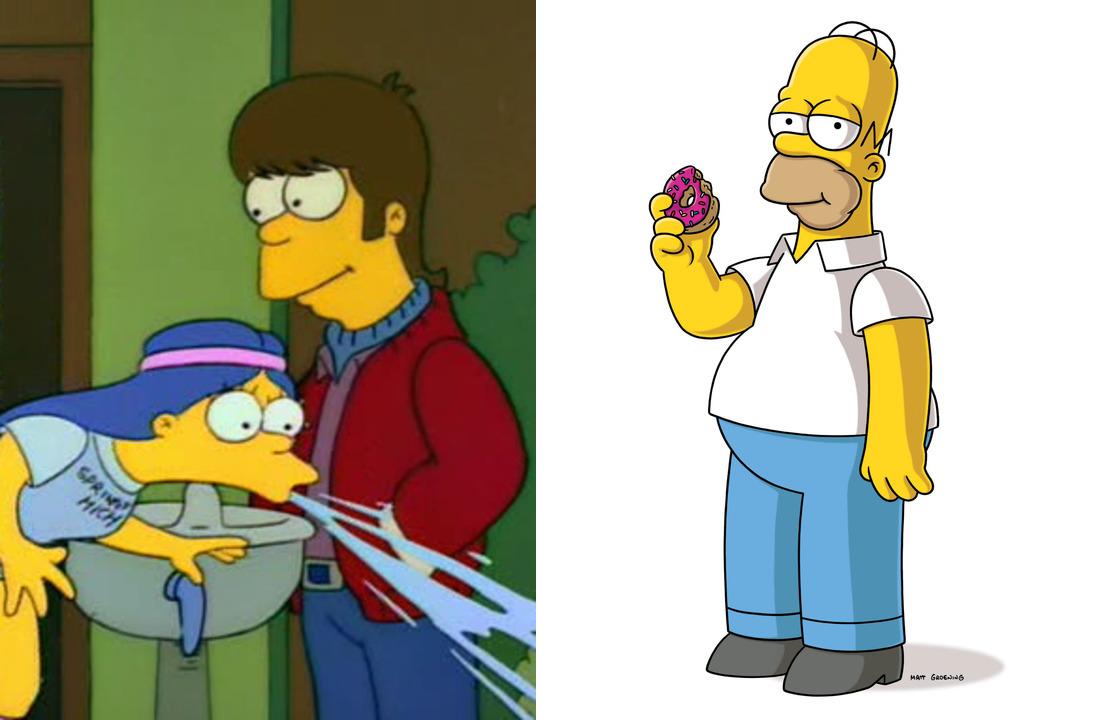 Когда Гомер ухаживал за Мардж, волос на его голове было намного больше, чем два. Федор Бондарчук