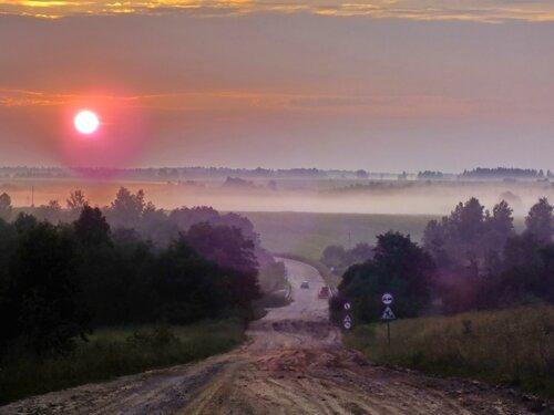 Эх дороги пыль да туман