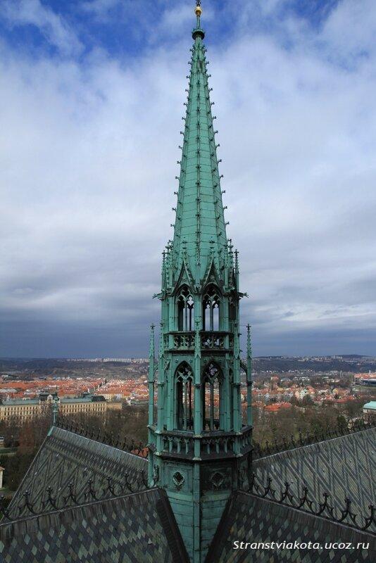 Прага, Вид с башни Собора Святого Вита