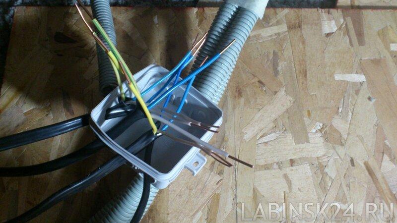 зачищенные медные провода для опрессовки