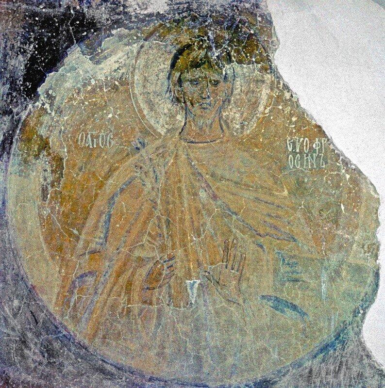 Новгород, ц-вь Рождества на кладбище, фрагмент росписи