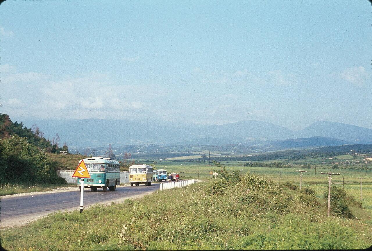 По дороге в Гори. Пейзаж Колхиды близ Нового Афона