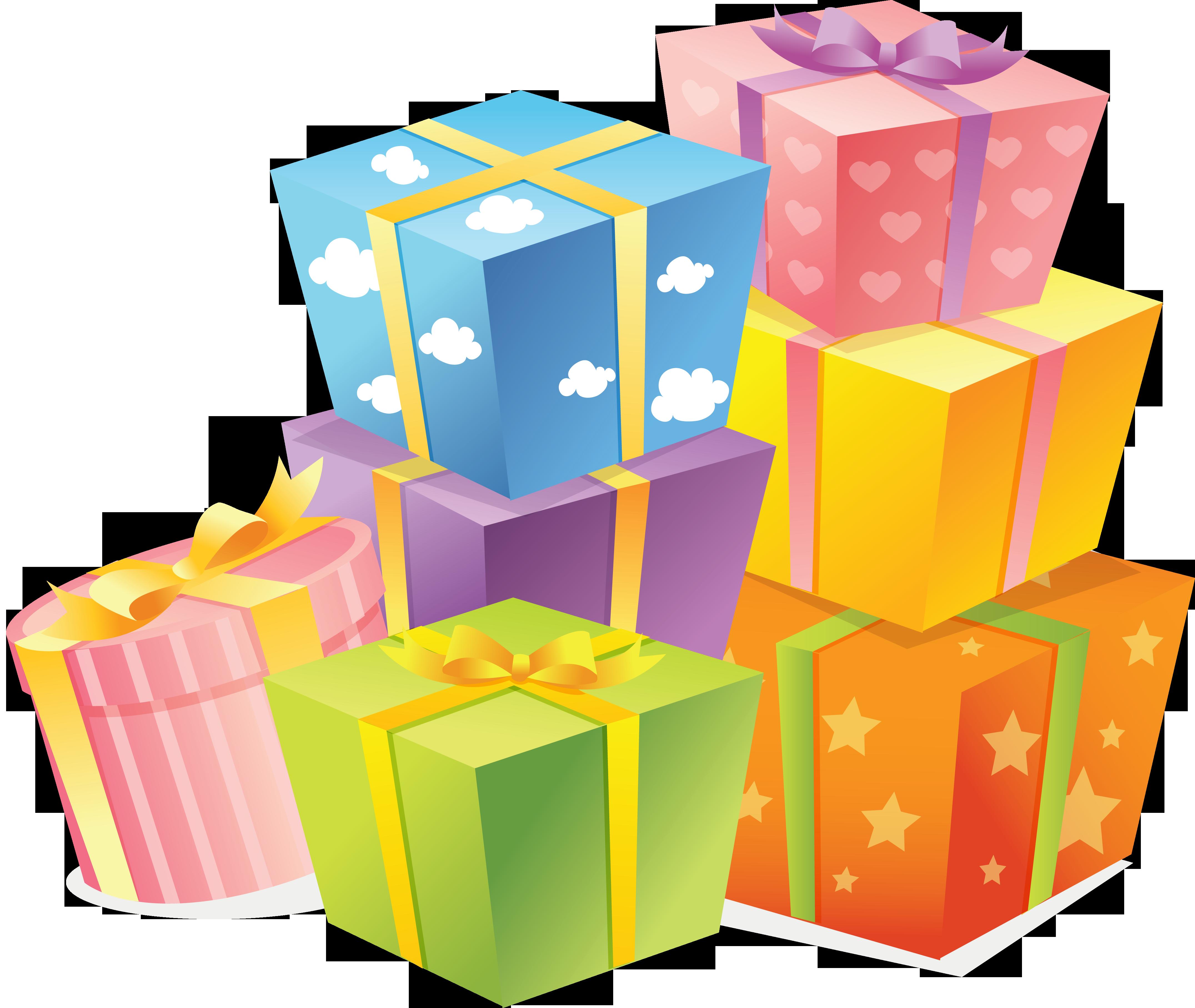 Клипарт подарков на день рождения