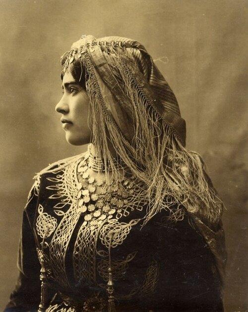 Algerian Jewish girl, North Africa.  c. 1890
