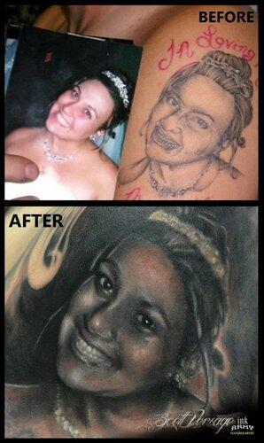 Наконец-то исправлена самая ужасная татуировка в мире!