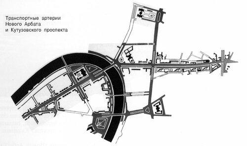 Транспортные артерии Нового Арбата и Кутузовского проспекта